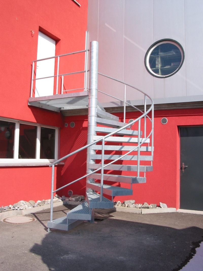 Metallgeländer & Aussentreppe, Huber_FMT Metall Technik AG