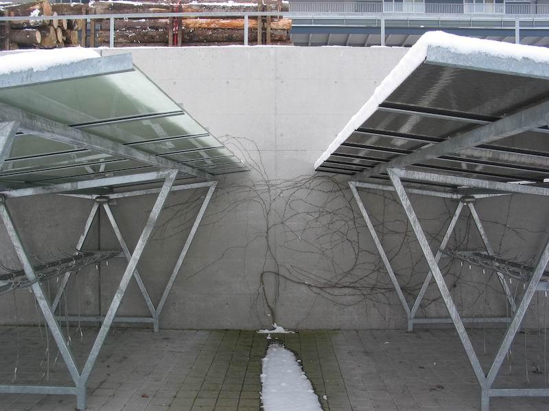 Veloständer aus Stahl, Bahnh.Frauenfeld_FMT Metallbau AG