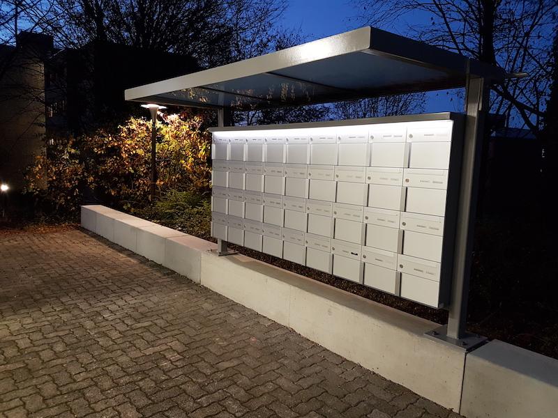 Spezialanfertigung Briefkastenanlage, unteres Buhl, Winterthur