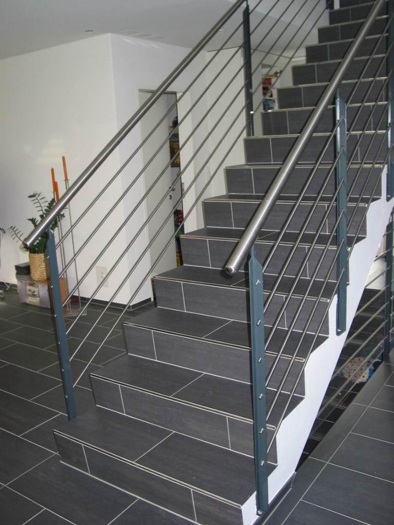 Stahlgeländer Innentreppe, Fassler Grob_FMT Metall Technik AG