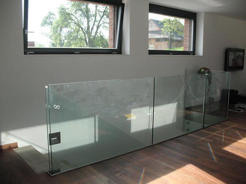 Verglasung, EFH Haus G, im Boll, Glasgeländer