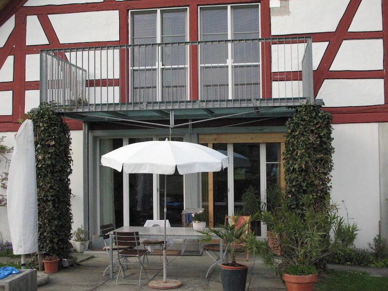 Bakon aus Metall, Remise-Schloss, Wellhausen_FMT Metallbau AG