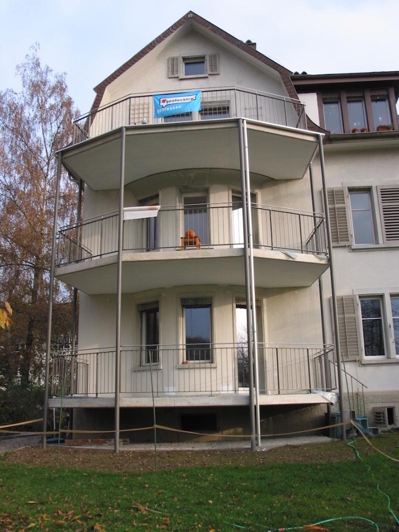 Stahlbalkone, Wartstr.Winterthur_FMT Metall Technik AG