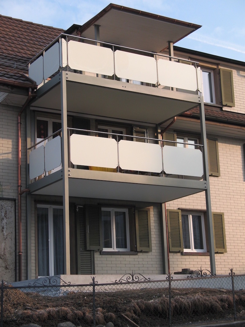 Stahlbalkone, Wiesentalstr,Aadorf_FMT Metall Technik AG