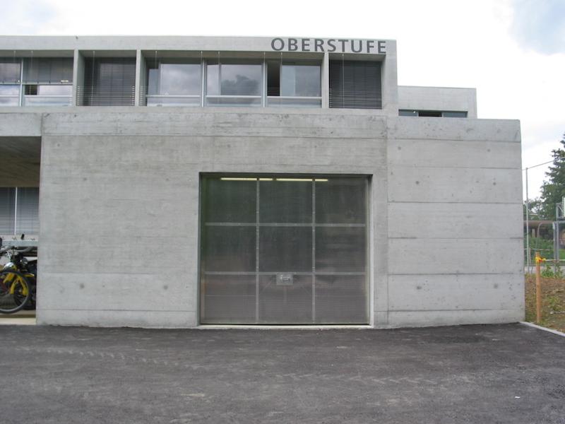 Metalltor Oberstufe Bronschh._FMT Metall Technik AG