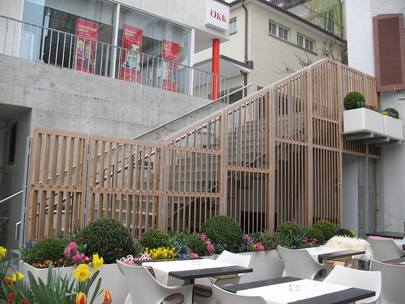 Aussen Metallgeländer Restaurant La Terrasse_FMT Metall Technik AG
