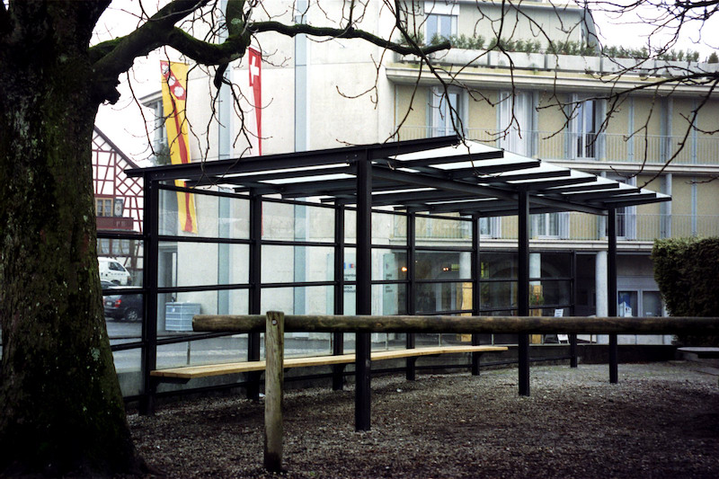 Vordach, Schulhaus Sirnach_FMT Metallbau AG