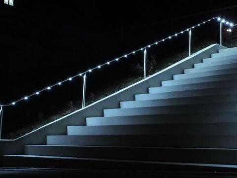 Stahlbau Spital Bethanien ZH, LED Handlauf III_FMT Metall Technik