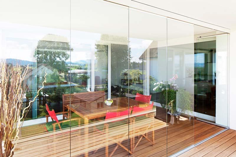 Glasschiebe Balkonverglasung GS 110